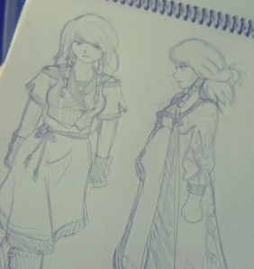 Character sketches from my current WIP novel.